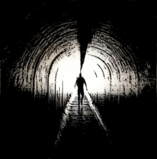 man-walking-towards-light-tunnel